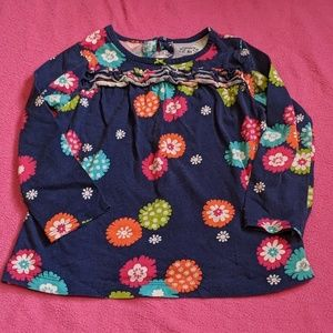 Carter's Floral Top with Ruffle